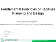 C H A P T E R   1 Fundamental principles of facilities planning and design