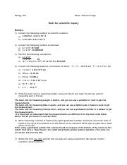 Scientific Inquiry Review Sheet-2