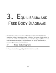 3. Equilibrium and Free Body Diagrams