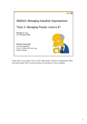 2.1 SEB323 Managing People #1 27 July-09