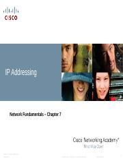 Chapter 7 IPv4 Addressing