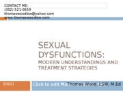 Sexual Dysfunction and ParaphiliaNA Fall 2010 Wood