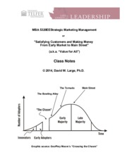 Class Notes 1 for Strategic Marketing Management