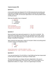 4AG018 Tutorial Answers PPE week 10 1112