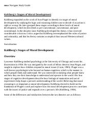 Kohlberg's Stages of Moral Development Research Paper Starter - eNotes
