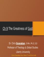 Ch 9E Greatness of God