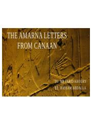 The Amarna Letters from Canaan.pptx