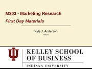 Marketing Research Introductory Terms Lecture Slides