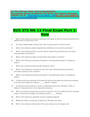 acc 403 final exam Acc 403 final exam part 2 this final exam consists of 30 multiple choice questions and covers the material in chapters 14 through 17, 21, and 24.