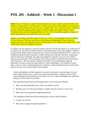 POL 201 - Week 1 - Discussion 1 (Person 3).docx