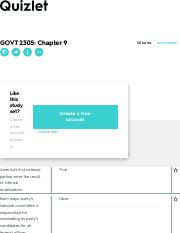 GOVT 2305: Chapter 9 Flashcards | Quizlet
