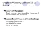 5 - Variability and Standard Scores