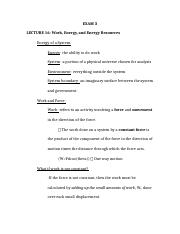 PHYSICS EXAM 3- STUDY GUIDE
