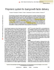 Richardson et. al. Polymeric system for dual growth factor delivery