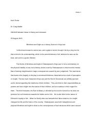 King Lear Paper