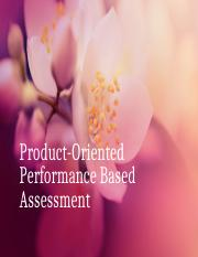 Product-Oriented Performance Based Assessment.pptx