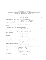 Math 198_Homework  Solutions on Methods of Ordinary Differential Equations