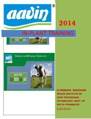 IN PLANT TRAINING-2014