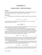 LAB 11 - chemical kinetics