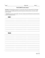 Social Studies Current Issues Social Studies Goal.docx