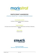 Markstrat Team Competition HandbookGuide