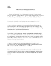 The Friar's Prologue and Tale Study Questions