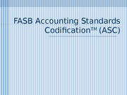 FASB Accounting Standards Codification(1)