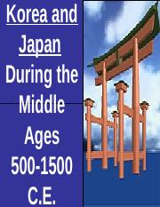 AP World- Medieval Korea and Japan