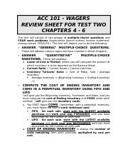 101 Test 2 Review 04-06