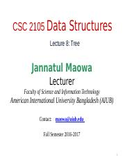 CSC2105 Lecture 08- Tree