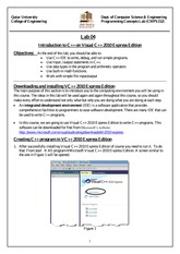 [Fall 2013] Lab #4 - MSVC++ Introduction