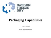 Guest Peter Mittman - OFD Packaging Capabilities