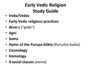 3-Early Vedic Religion