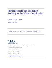 Intro to Ion Exchange Desalination