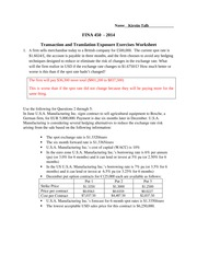 FINA450-Q1WW Transaction and Translation Exposure Exercises TALB01