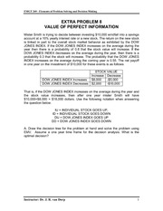 Extra Problem 8 - Value of Perfect Information