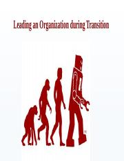 Leading an Organization during Transition_Info Brief
