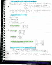 mrkt339 types of competition and environment notes