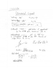 Uniaxial Crystal