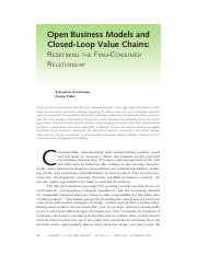 Kortmann, S. & F. Piller (2016), Open business models and closed-loop value chains