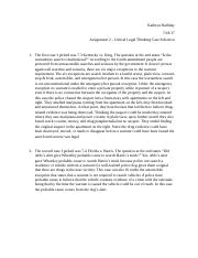 Assignment 2 - Critical Legal Thinking Case Selection.docx