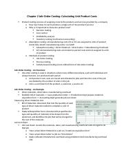 Chapter 2 Job Order Costing Calculating Unit Product Costs.docx