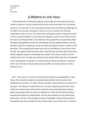 A lifetime in one hour.docx