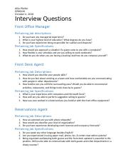HRM108 Interview Questions