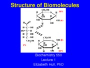 L1 Structure of Biomolecules(2)