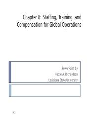 8. Cross Cultural Staffing, Training, and Compensation.pptx