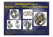 MECH2400 5400 Mechanical Design Bearings Part 2