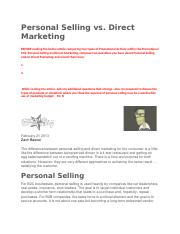 Personal Selling vs Direct Marketing.docx