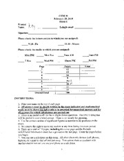 CHEM30 Spring 2015 Exam 1 Key
