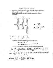 Ch 13 Practice Problems